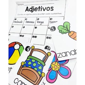 Adjetivos Adjectives Spanish
