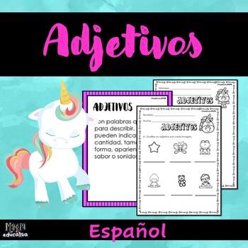 Adjetivos (Hojas de Trabajos | Spanish Adjetives (Worksheets)