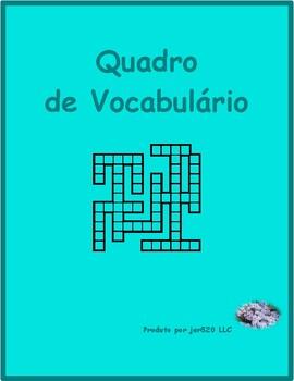 Adjectivos (Portuguese Adjectives) Kriss Kross puzzle