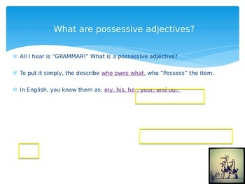 Adjetivos Posesivos (Possessive Adjectives) PowerPoint Notes