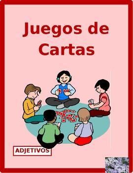 Adjetivos (Spanish Adjectives) games:  Concentration, Slap