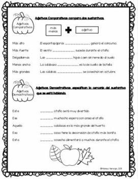 Adjetivos en Español  - Tema: OTOÑO