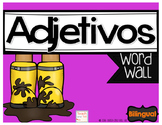Adjetivos Vobulario Adjectives Word Wall Spanish