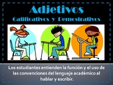 Adjetivos - calificativos y demostrativos
