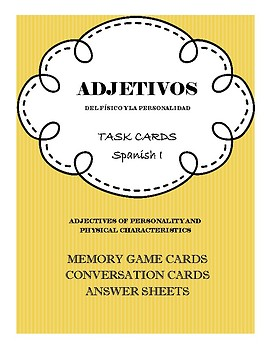 Interactive Task Cards - Adjectives of Personality & Physical Characteristics