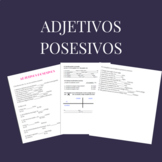 Adjetivos posesivos / Possessive adjectives in Spanish