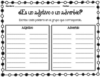 Adjetivos y Adverbios