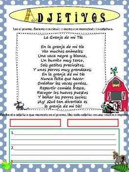 Adjetivos Y Sustantivos Con Poemas By Araujo S Attic Tpt