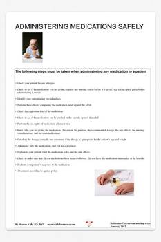 Administering Medications Safely