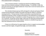Administration Request Form for Small Group Counseling