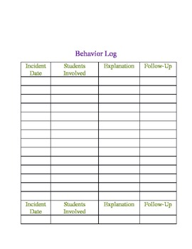 Administrative Binder Inserts