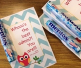 Administrative Incentive - attach a treat to this cute note