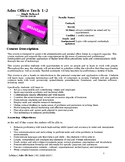 Administrative Office Technology Syllabus