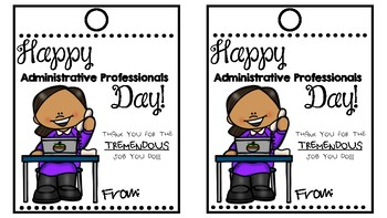 Administrative Professionals Day Gift Tag