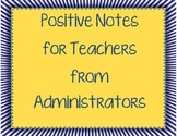 Administrator Notes for Teachers