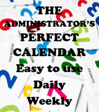 Administrator's Perfect Daily Calendar