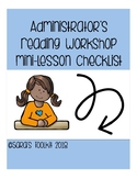 Administrator's Reading Workshop Mini-Lesson Checklist