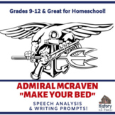"""Admiral McRaven """"Make Your Bed"""" Speech Analysis for Grades"""