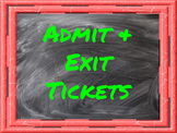 Admit and Exit Ticket Templates