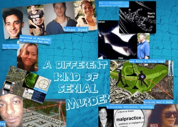 Adnan Syed Murder Case from Podcast SERIAL - FREE POSTER