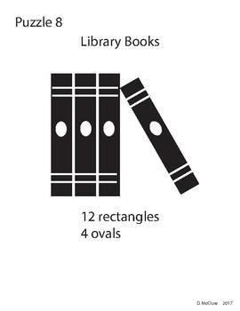 Adobe Illustrator Basic Shapes Puzzle 8 - Library Books