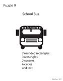 Adobe Illustrator Basic Shapes Puzzle 9 - School Bus