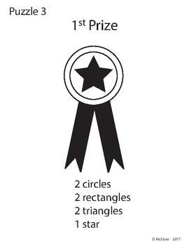 Adobe Illustrator Basic Shapes Puzzle - First Prize