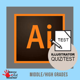 Adobe Illustrator CC 2018 Tools Test/Worksheet High School