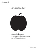 Adobe Illustrator Basic Shapes Puzzle 2 - An Apple a Day