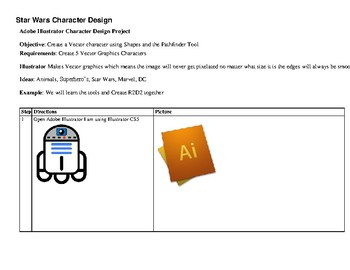 Adobe Illustrator Star Wars R2D2 Project Learn to Create Vector Graphics PBL