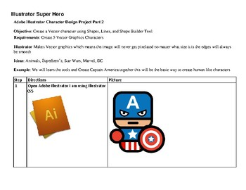 Adobe Illustrator Super Hero Project Learn to Create Vector Graphics PBL