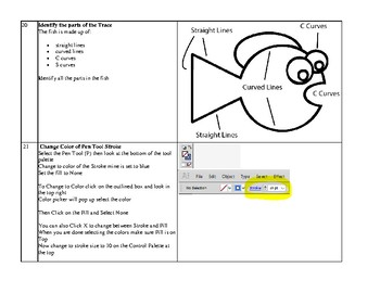 Adobe Illustrator Trace Project Learn to Create Vector Graphics PBL