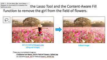 Adobe Photoshop: Content-Aware Fill and the Lasso Tool