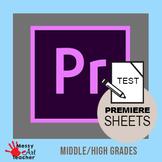 Adobe Premiere Pro CC 2019 Tools Worksheet High School