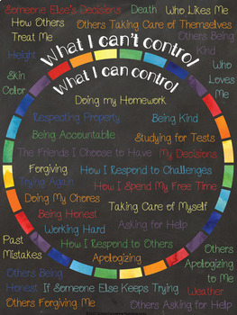 Adolescent Counseling Tool: What Are Things I Can Control & I Can't Control