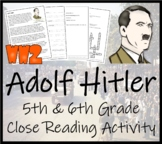 Adolf Hitler - 5th & 6th Grade Close Reading Activity