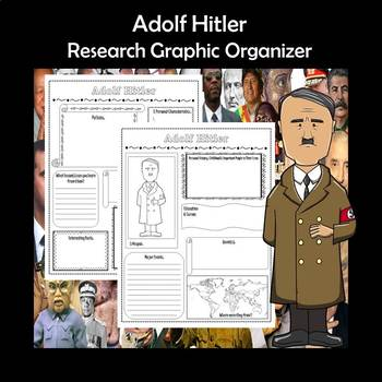 Adolf Hitler Biography Research Graphic Organizer