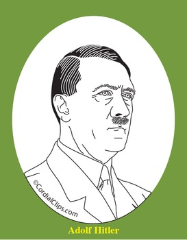 Adolf Hitler Clip Art, Coloring Page, or Mini-Poster