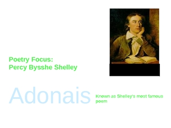 Adonais by Percy Bysshe Shelley analysis