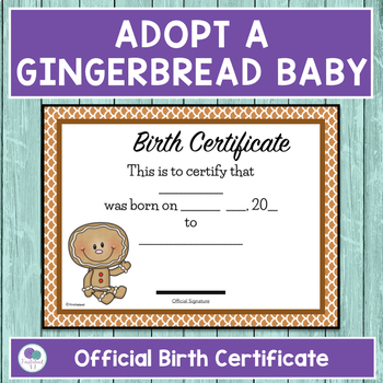 Adopt A Gingerbread Baby