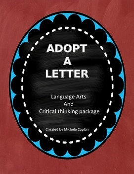 Adopt A Letter - Language Arts Package for Primary