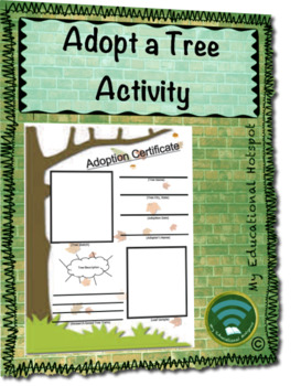 Adopt A Tree Activity Template & Directions