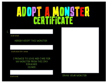 Adopt a Monster