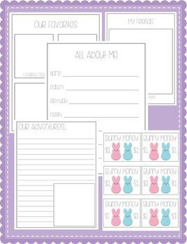 Adopt - a - Peep Activity Packet