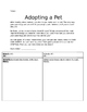 Adopt a Pet Research Activity