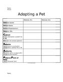 Adopt a Pet Research Activity