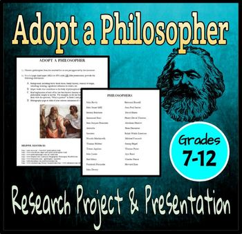 Adopt a Philosopher Research Project & Presentation