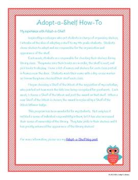 Adopt-a-Shelf Library Program Bundle