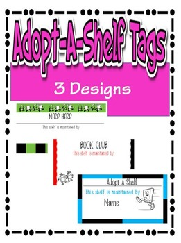 Adopt-a-Shelf Tags (3 Designs)