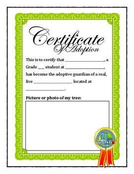 Adopt a Tree Journal